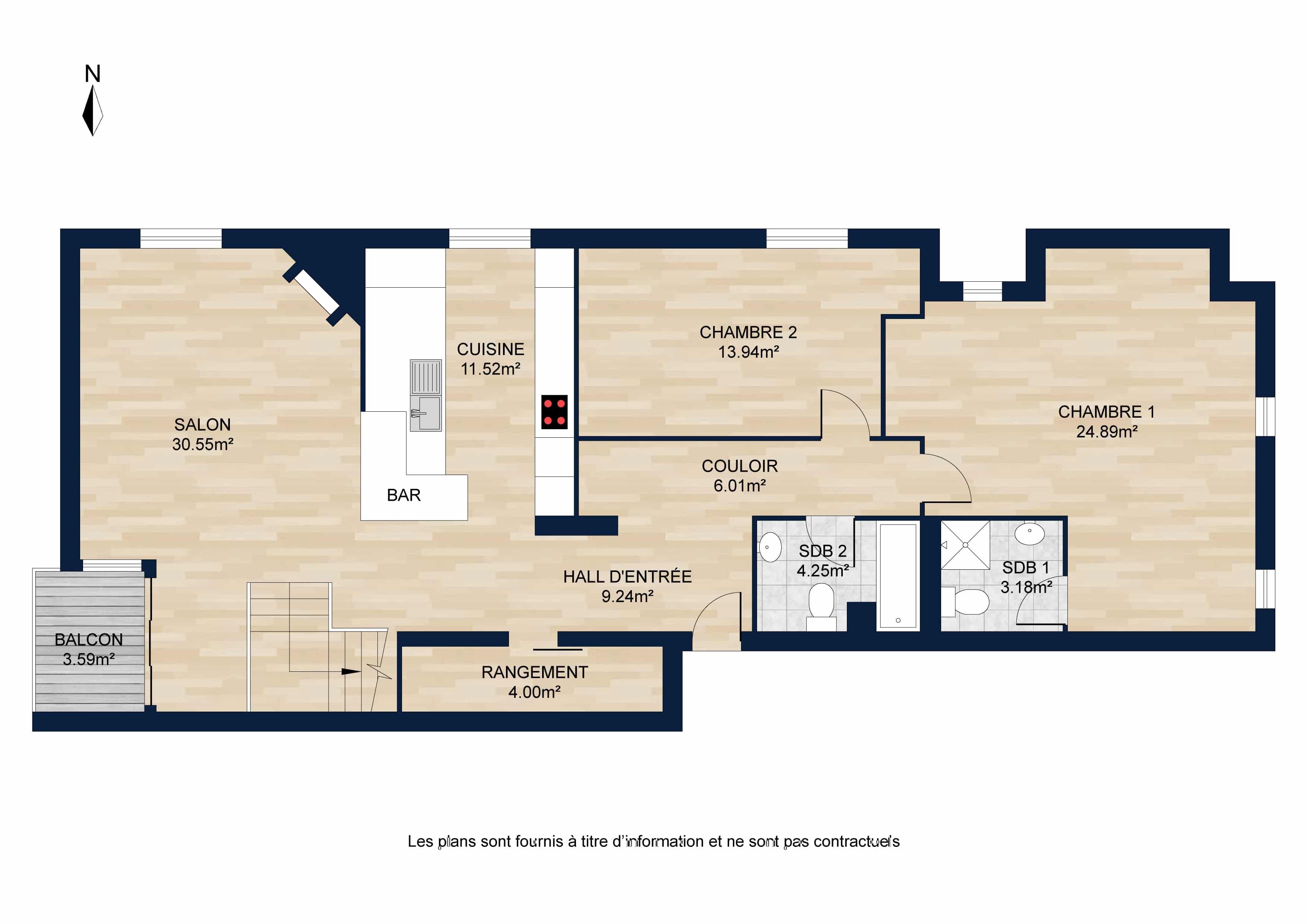 Appartement attique 1er niveau